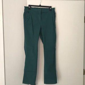 Green JCrew Chino Pant